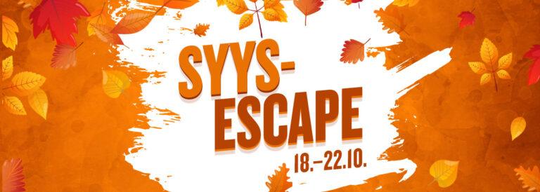 Willan SyysEscape 18.-22.10.